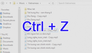 Undo thao tác Move/Copy/Rename file trên windows