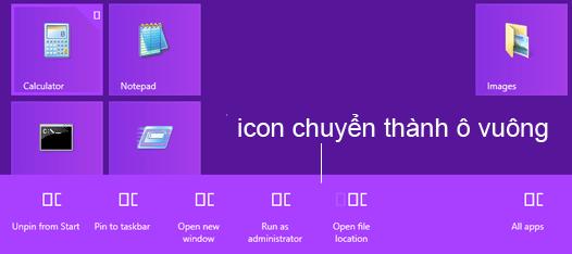 Sửa lỗi icon thành hình vuông trên windows 8