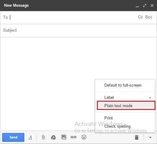 gmail-tat-che-do-van-ban-thuan-tuy