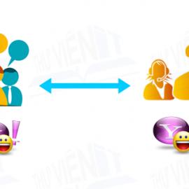 Thông qua các ứng dụng như yahoo, skype