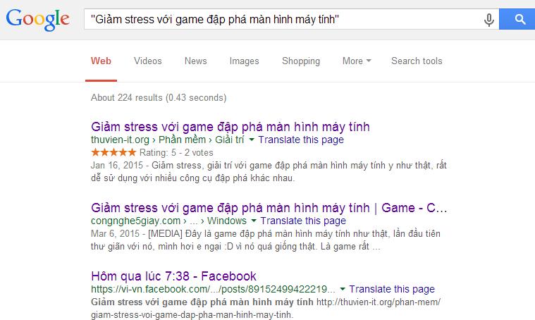 Tìm kiếm chính xác cụm từ