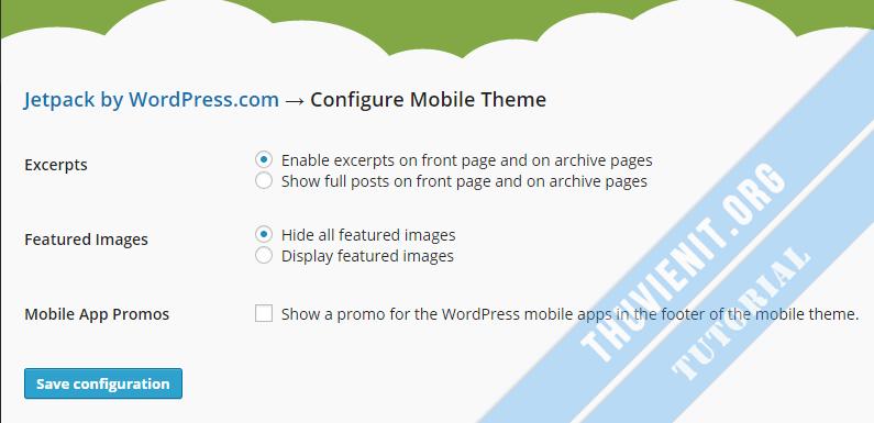 Cấu hình mobile theme cho JetPack