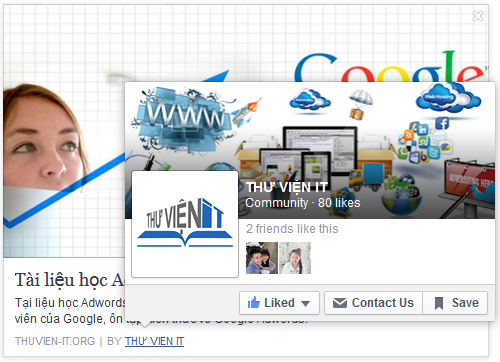 Hiển thị link Fanpage khi share bài viết lên Facebook