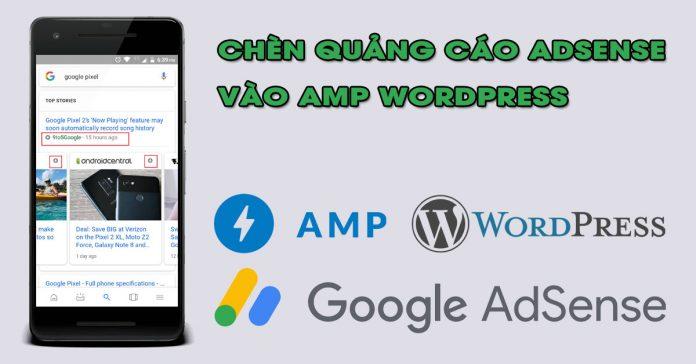 chen quang cao adsense vao amp wordpress