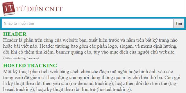 Từ điển CNTT