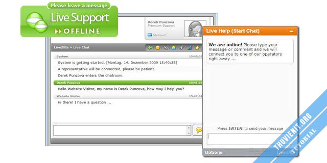 Livezilla - hệ thống hỗ trợ chat trực tuyến