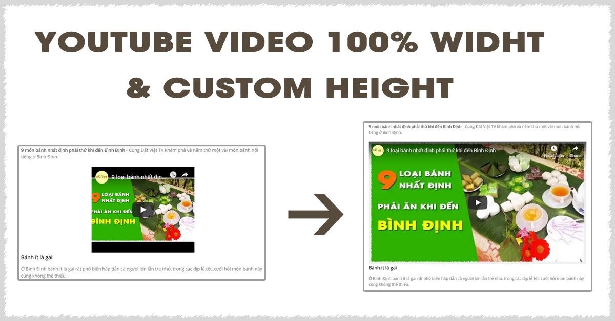 Code điều chỉnh kích thước iframe YouTube video trong bài viết - Thư